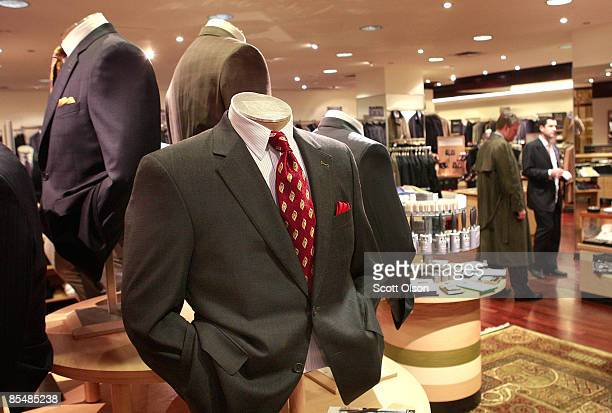 Suits are offered for sale at a Jos A Bank store March 18 2009 in Chicago Illinois Jos A Bank Clothiers Inc has launched a 'Risk Free Suit' promotion...
