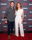 SUITS Suits/Entertainment Weekly Season 6 Premiere Screening Pictured Patrick J Adams Sarah Rafferty