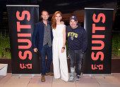 SUITS Suits/Entertainment Weekly Season 6 Premiere Screening Pictured Patrick J Adams Sarah Rafferty Rick Hoffman