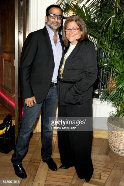 Sujal Shah and Fern Mallis attend HP CONDE NAST and BERGDORF GOODMAN 'Sex The City 2' After Party at Bergdorf Goodman on May 25 2010 in New York City