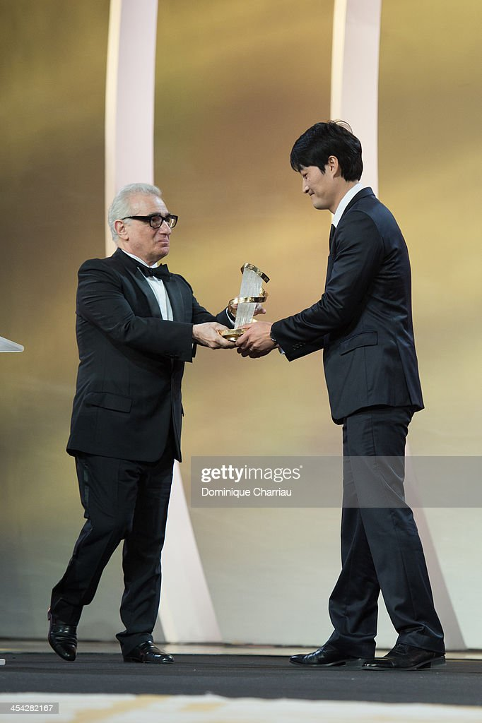 Su-jin Lee awarded Gold Star by Jury President <a gi-track='captionPersonalityLinkClicked' href=/galleries/search?phrase=Martin+Scorsese&family=editorial&specificpeople=201976 ng-click='$event.stopPropagation()'>Martin Scorsese</a> during the Award Ceremony of the 13th Marrakech International Film Festival on December 7, 2013 in Marrakech, Morocco.