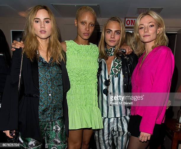 Suki Waterhouse Adwoa Aboah Cara Delevingne and Clara Paget attends the launch of iD's 'The Female Gaze' issue hosted by Holly Schkleton and Adwoa...
