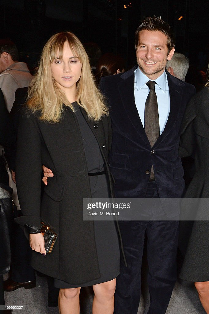 <a gi-track='captionPersonalityLinkClicked' href=/galleries/search?phrase=Suki+Waterhouse&family=editorial&specificpeople=7591336 ng-click='$event.stopPropagation()'>Suki Waterhouse</a> (L) and <a gi-track='captionPersonalityLinkClicked' href=/galleries/search?phrase=Bradley+Cooper&family=editorial&specificpeople=680224 ng-click='$event.stopPropagation()'>Bradley Cooper</a> attend the TOM FORD show at London Fashion Week AW14 at The Lindley Hall on February 17, 2014 in London, England.