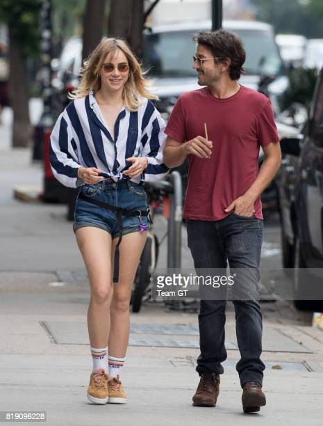 Suki Waterhouse and Diego Luna seen on July 19 2017 in New York City