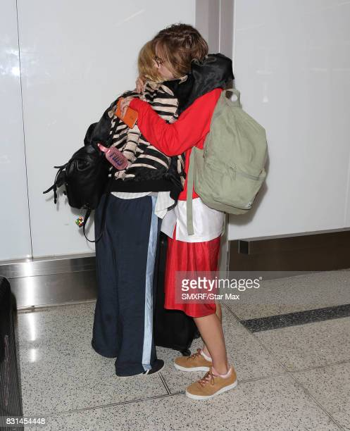 Suki Waterhouse and Georgia May Jagger are seen on August 14 2017 in Los Angeles California