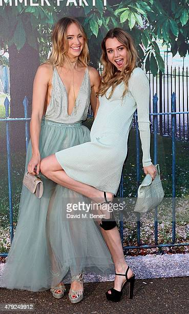 Suki Waterhouse and Immy Waterhouse arrive at The Serpentine Gallery summer party at The Serpentine Gallery on July 2 2015 in London England