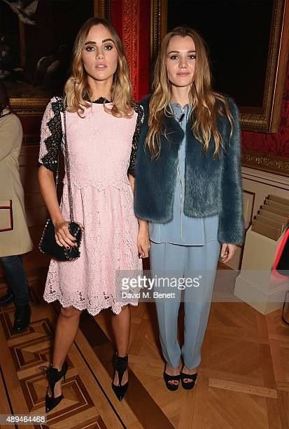 Suki Waterhouse and Immy Waterhouse attends the London 2015 Green Carpet Collection By Erdem in partnership with MercedesBenz at the Wallace...