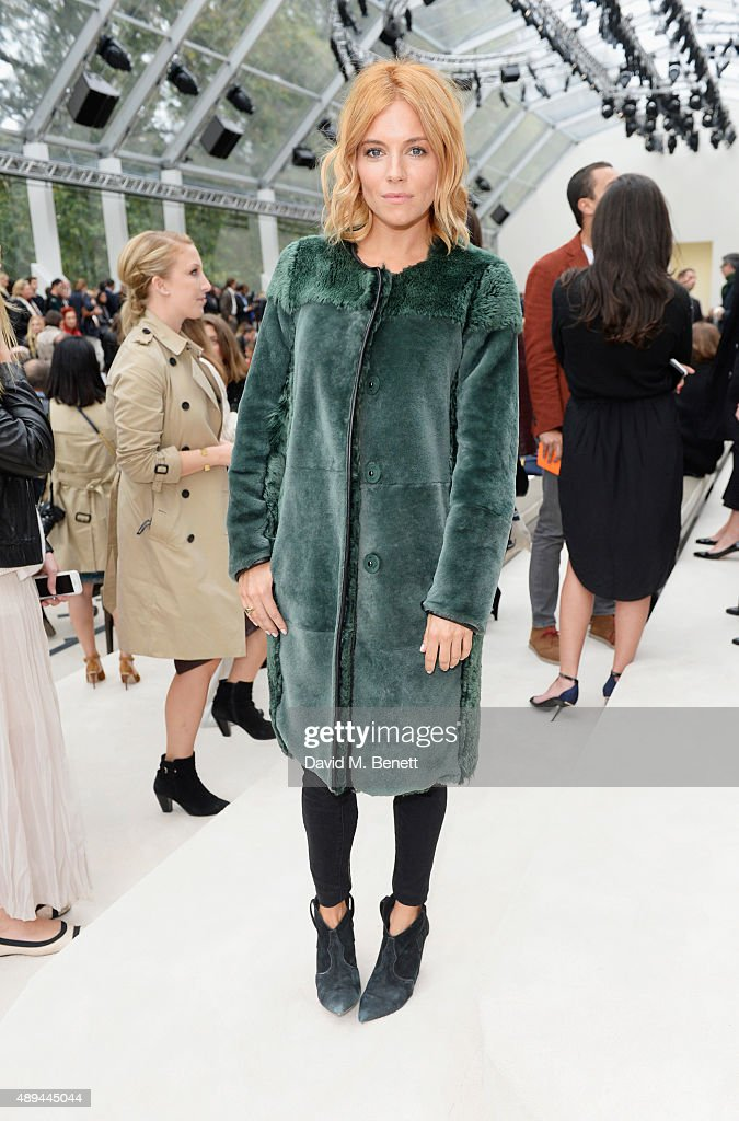 Suki Waterhouse arrives at Burberry Womenswear Spring/Summer 2016 show during London Fashion Week at Kensington Gardens on September 21, 2015 in London, England.