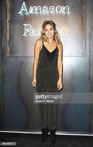 Suki Waterhouse arrives at the Amazon Fashion Photography Studio launch party which opened on July 23 2015 in London England Guest of honour was Suki...