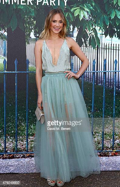 Suki Waterhouse arrives at The Serpentine Gallery summer party at The Serpentine Gallery on July 2 2015 in London England