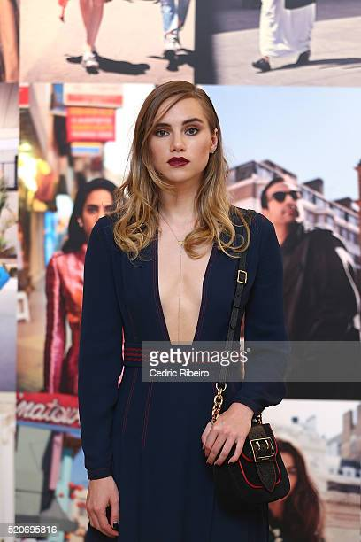 'DUBAI UNITED ARAB EMIRATES APRIL 12 Suki Waterhouse at the Burberry Art of the Trench Middle East event at Mall of the Emirates on April 12 2016 in...