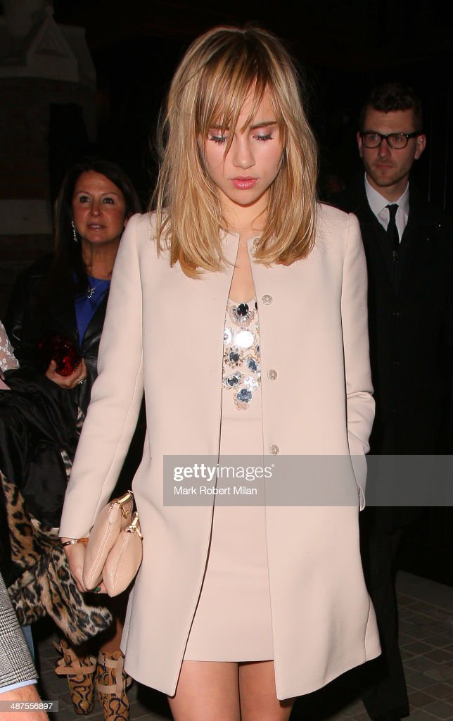 <a gi-track='captionPersonalityLinkClicked' href=/galleries/search?phrase=Suki+Waterhouse&family=editorial&specificpeople=7591336 ng-click='$event.stopPropagation()'>Suki Waterhouse</a> at the Chiltern Firehouse for a Prada event on April 30, 2014 in London, England.