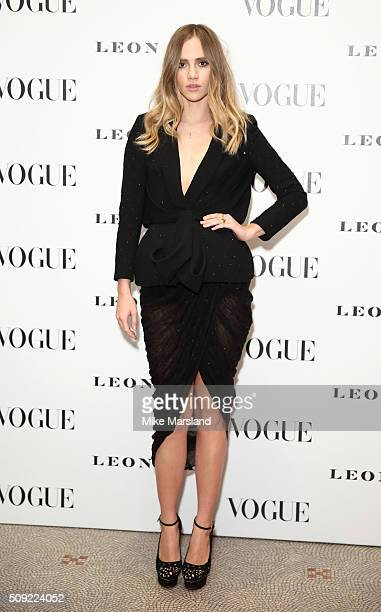 Suki Waterhouse attends at Vogue 100 A Century Of Style atNational Portrait Gallery on February 9 2016 in London England