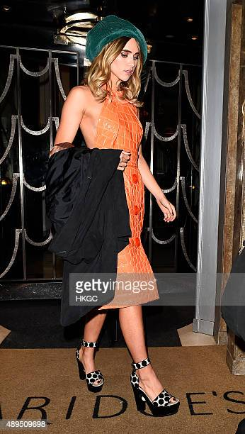 Suki Waterhouse attends Love Magazine's Party at Lulu's Member's Club on September 21 2015 in London England