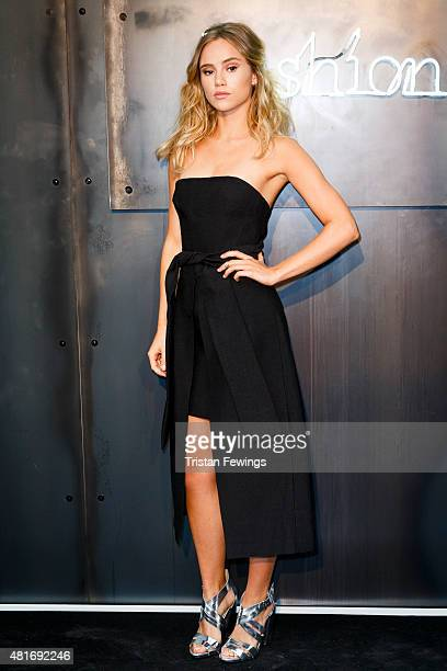 Suki Waterhouse attends the Amazon Fashion Photography Studio launch party on July 23 2015 in London England