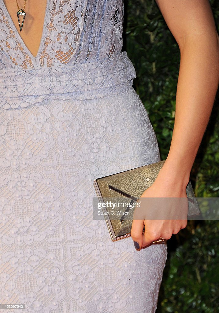 Suki Waterhouse (bag detail) attends the British Fashion Awards 2013 at London Coliseum on December 2, 2013 in London, England.