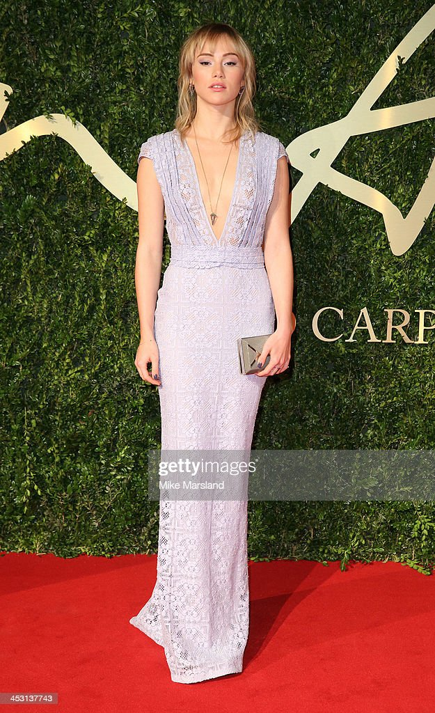 Suki Waterhouse attends the British Fashion Awards 2013 at London Coliseum on December 2, 2013 in London, England.