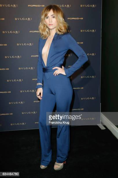 Suki Waterhouse attends the Bulgari 'Night of the Legend' event during the 67th Berlinale International Film Festival on February 9 2017 in Berlin...