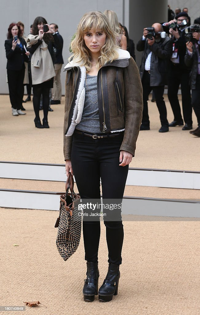 Suki Waterhouse attends the Burberry Prorsum show at London Fashion Week SS14 at on September 16, 2013 in London, England.