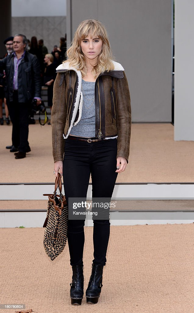 Suki Waterhouse attends the Burberry Prorsum show during London Fashion Week SS14 at Kensington Gardens on September 16, 2013 in London, England.