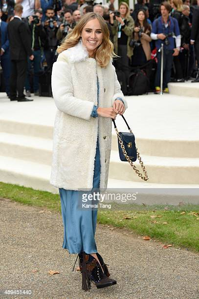 Suki Waterhouse attends the Burberry Prorsum show during London Fashion Week Spring/Summer 2016/17 at Kensington Gardens on September 21 2015 in...