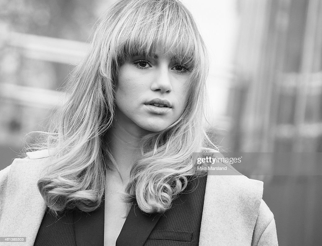 Suki Waterhouse attends the Burberry Prorsum show during The London Collections: Men Autumn/Winter 2014 on January 8, 2014 in London, England.
