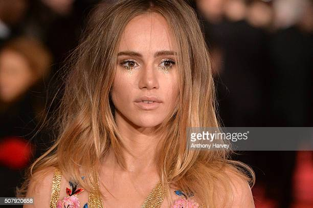 Suki Waterhouse attends the European premiere of 'Pride And Prejudice And Zombies' on at Vue West End on February 1 2016 in London England