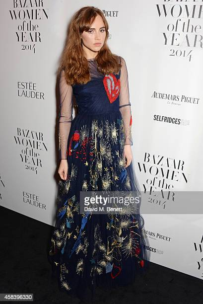 Suki Waterhouse attends the Harper's Bazaar Women Of The Year awards 2014 at Claridge's Hotel on November 4 2014 in London England