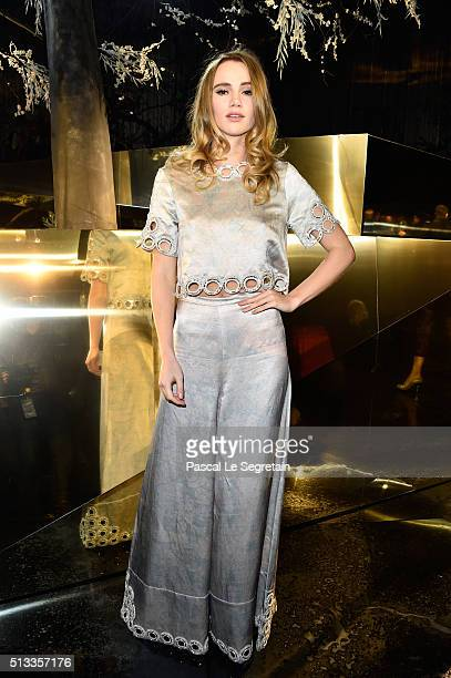 Suki Waterhouse attends the HM show as part of the Paris Fashion Week Womenswear Fall/Winter 2016/2017 on March 2 2016 in Paris France