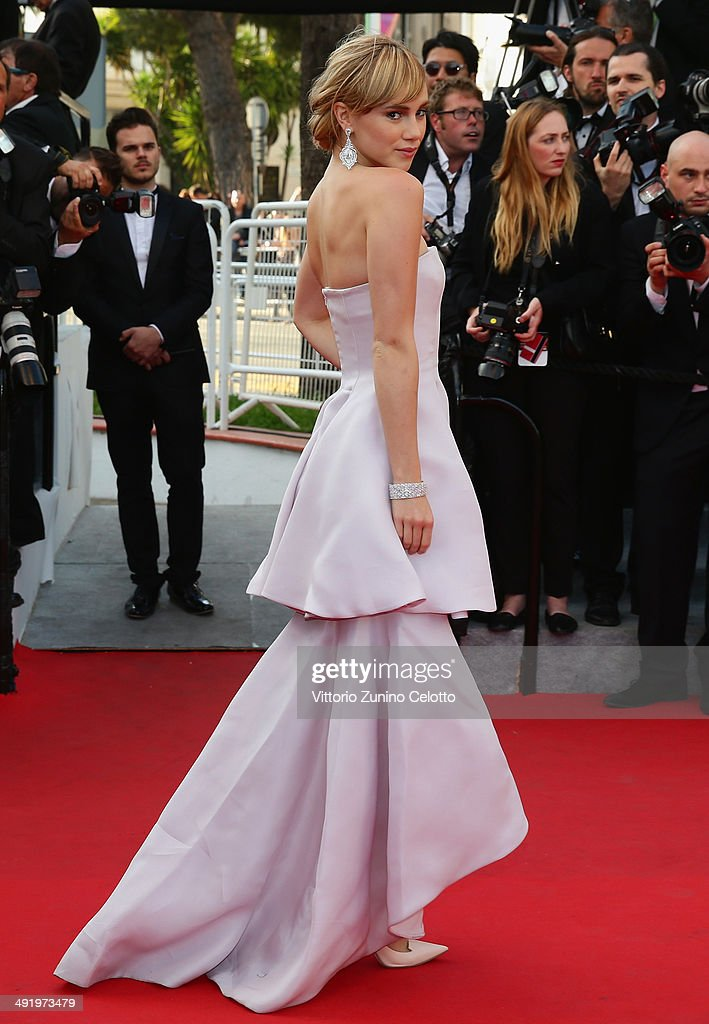 Suki Waterhouse attends 'The Homesman' premiere during the 67th Annual Cannes Film Festival on May 18, 2014 in Cannes, France.