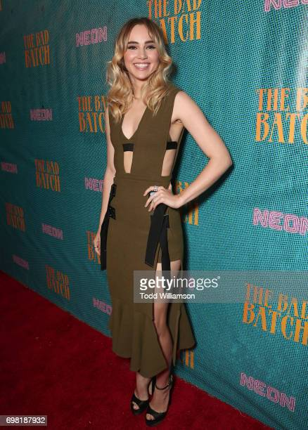 Suki Waterhouse attends the premiere Of Neon's 'The Bad Batch' at Resident on June 19 2017 in Los Angeles California
