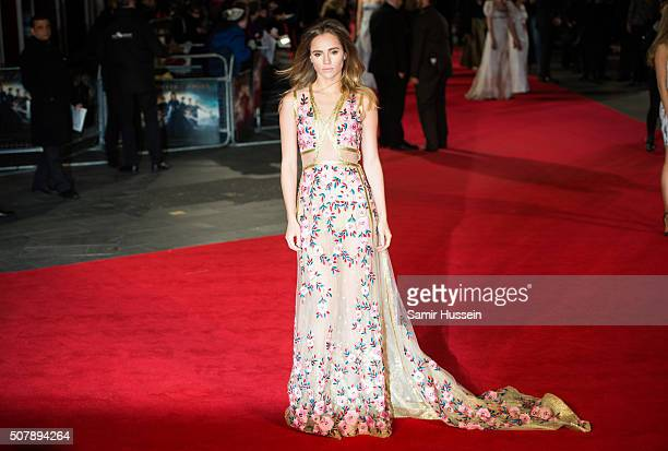 Suki Waterhouse attends the red carpet for the European premiere for 'Pride And Prejudice And Zombies' on at Vue West End on February 1 2016 in...