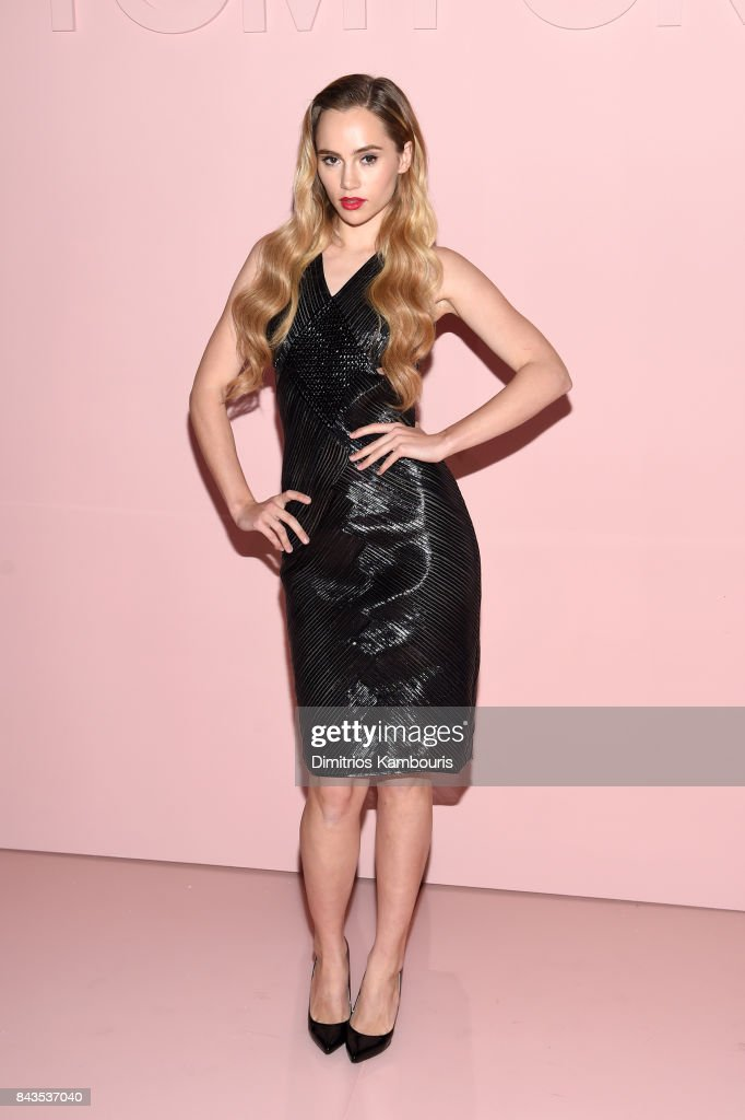 Suki Waterhouse attends the Tom Ford Spring/Summer 2018 Runway Show at Park Avenue Armory on September 6, 2017 in New York City.