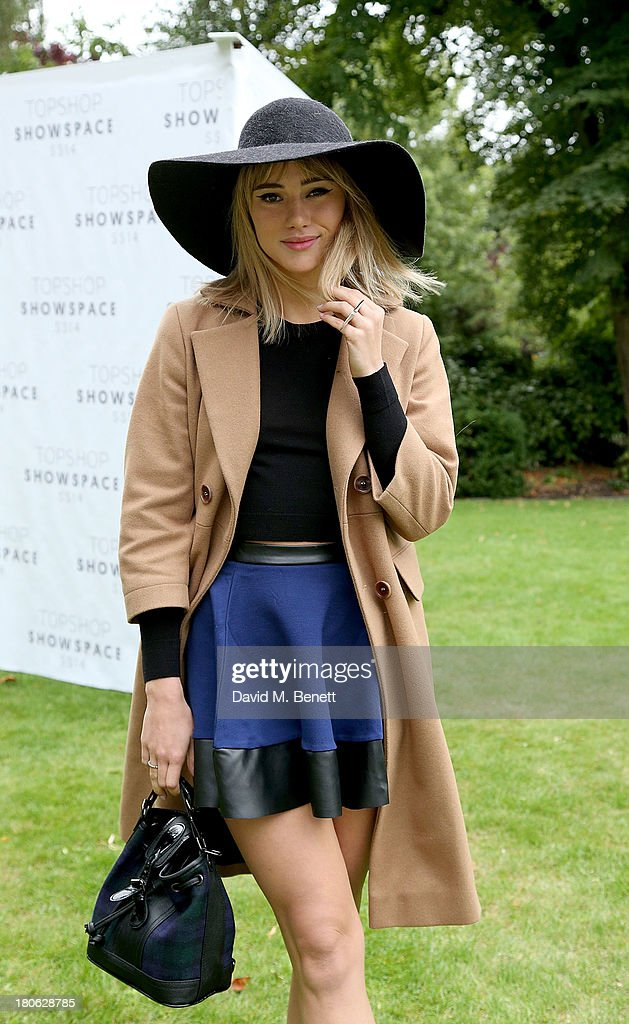 Suki Waterhouse attends the Unique SS14 runway show during London Fashion Week on September 15, 2013 in London, England.