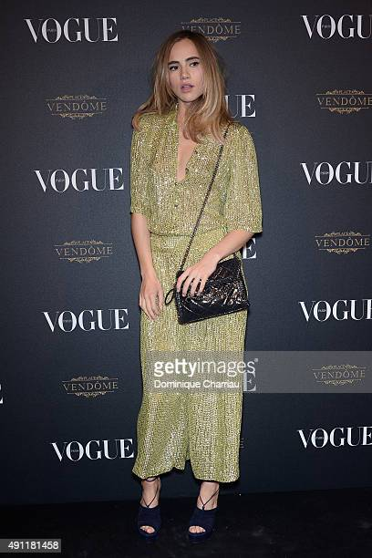Suki Waterhouse attends the Vogue 95th Anniversary Party Photocall as part of the Paris Fashion Week Womenswear Spring/Summer 2016 on October 3 2015...