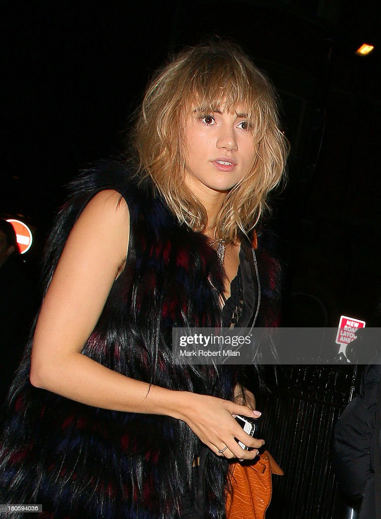 Suki Waterhouse attends the W Magazine September issue party at The London EDITION hotel on September 14, 2013 in London, England.
