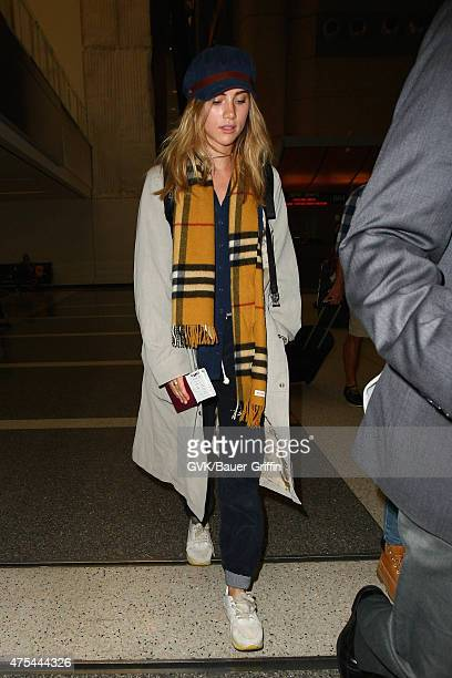 Suki Waterhouse is seen at LAX on May 31 2015 in Los Angeles California