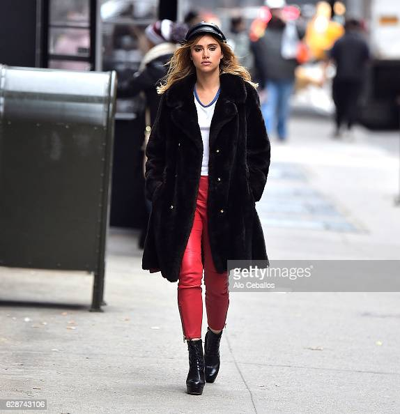 Suki Waterhouse is seen in the West Village on December 9 2016 in New York City