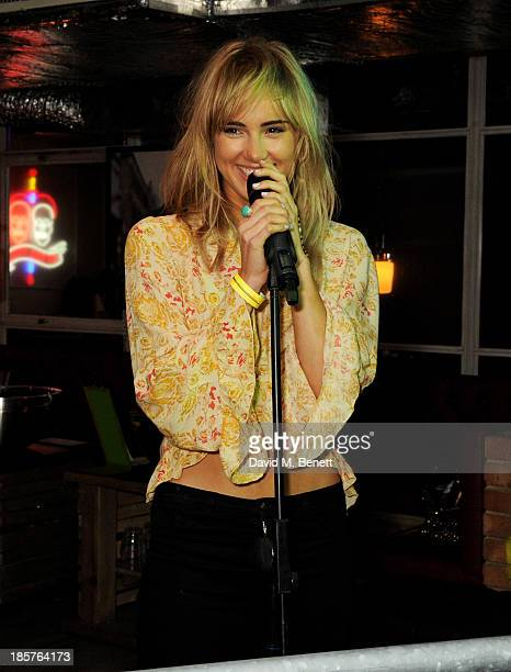 Suki Waterhouse performs at the launch of Prowl Magazine at INK LDN on October 24 2013 in London England