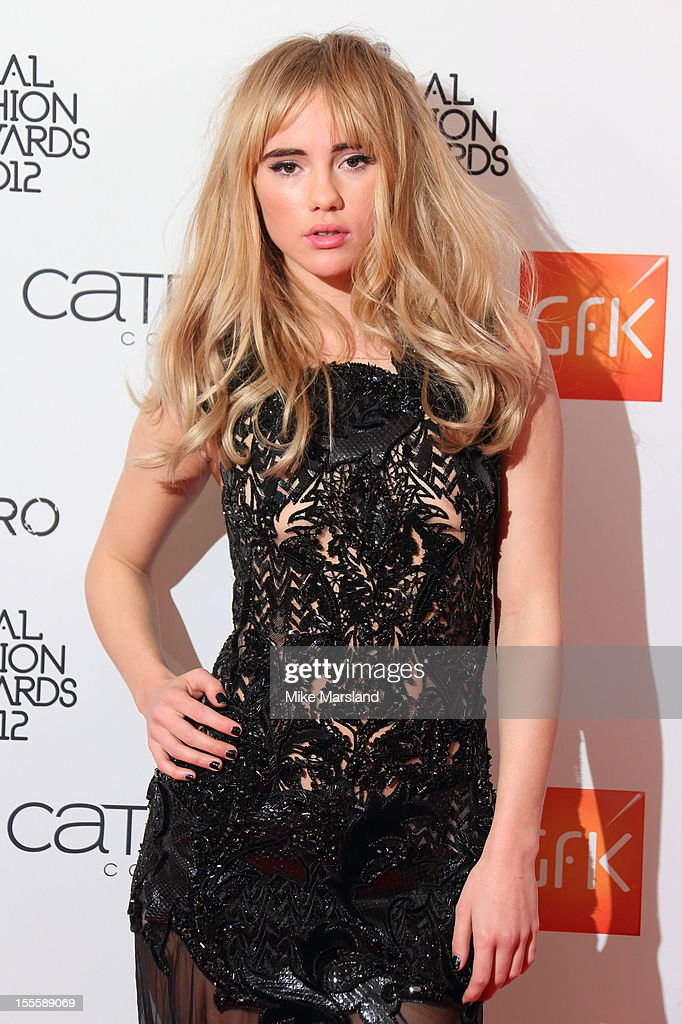 Suki Waterhouse poses in the awards room at the WGSN Global Fashion Awards at The Savoy Hotel on November 5, 2012 in London, England.