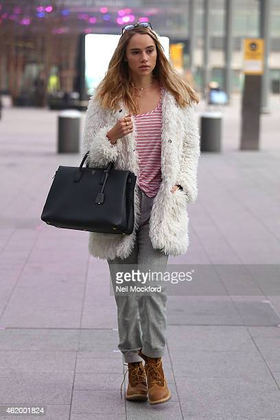 Suki Waterhouse seen arriving at Heathrow Airport on January 23 2015 in London England