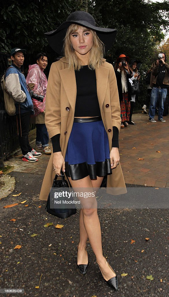 Suki Waterhouse seen at the Topshop Show on September 15, 2013 in London, England.