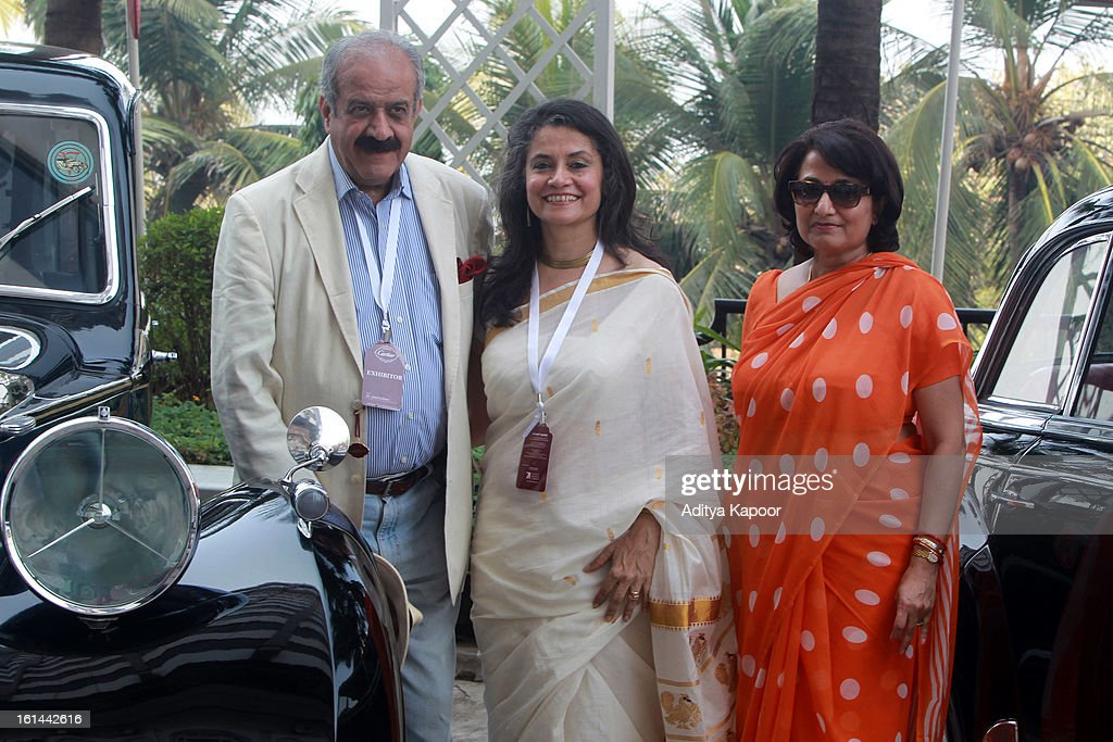 Sulaiman Jamal (L), Christine Jamal (M) and Renuka Manvrindra Singh at the Cartier 'Travel With Style' Concours 2013 at Taj Lands End on February 10, 2013 in Mumbai, India.