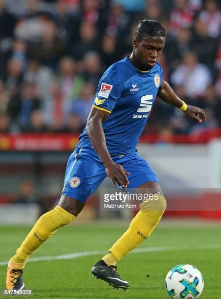 Suleiman Abdullahi of Braunschweig runs with the ball during the Second Bundesliga match between 1 FC Union Berlin and Eintracht Braunschweig at...