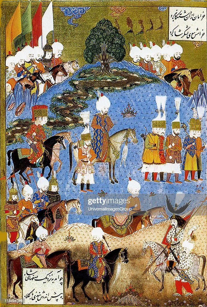 Suleiman I longestreigning Sultan of the Ottoman Empire from 1520 to his death in 1566Suleiman the magnificent marching with army in Nakhichevan...
