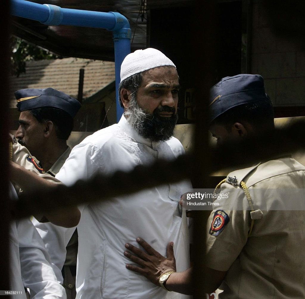 Suleiman Memon brother of the prime accused Yakub Memon, who has been acquitted by TADA court in the 1993 Mumbai blast case on May 9, 2007 in Mumbai, India. On March 21, 2013 after 20-year-long judicial proceedings in 1993 Mumbai Serial Bomb Blasts Case, Supreme Court upheld the death sentence of Yakub Abdul Razak Memon, a key conspirator with Dawood Ibrahim in the 1993 Mumbai serial blasts, and ordered that Bollywood actor Sanjay Dutt return to jail to serve three-and-a-half years sentence for possessing illegal arms. 257 people were killed in serial blasts in Mumbai on March 12, 1993.