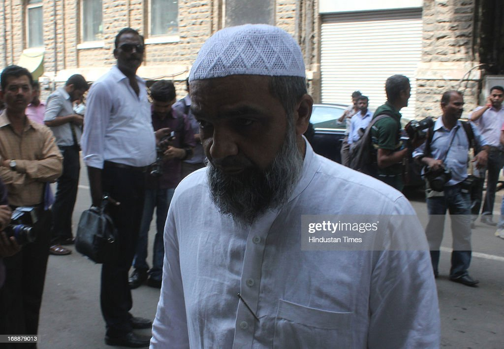 Suleiman Memon one of the accused in 1993 Mumbai bomb blast case arrives at TADA Session Court on May 16, 2013 in Mumbai, India. The eldest of the Memon brothers, he was acquitted in the case. His younger brother Essa surrendered today to serve his life imprisonment.