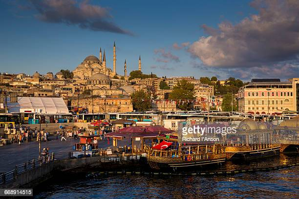 Suleymaniye Mosque & fish cafes on the Golden Horn