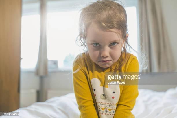Sulking Young Girl