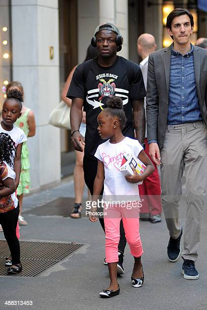 Sulley Ali Muntari is seen on May 5 2014 in Milan Italy